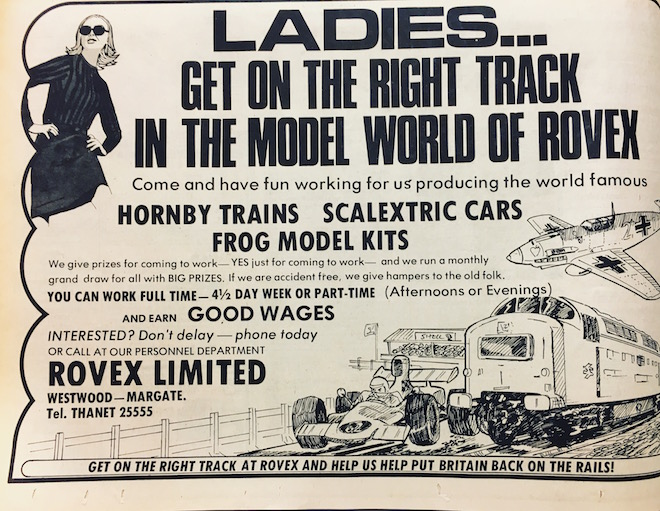 Rovex Hornby Scalextric ad